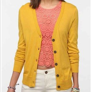 Urban Outfitters • BDG sunshine yellow cardigan